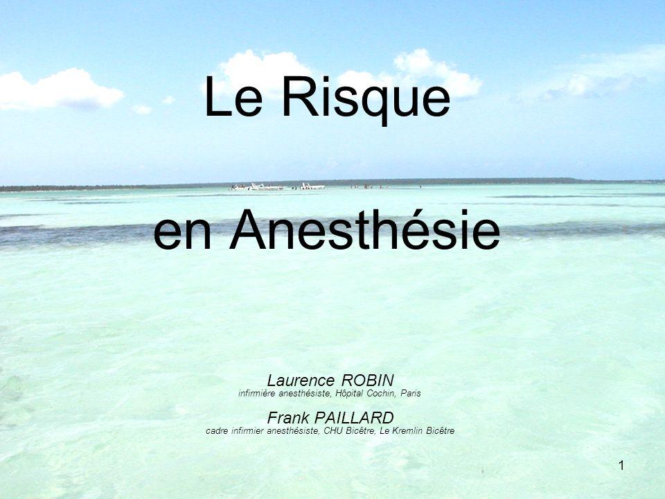 Le Risque en Anesthésie