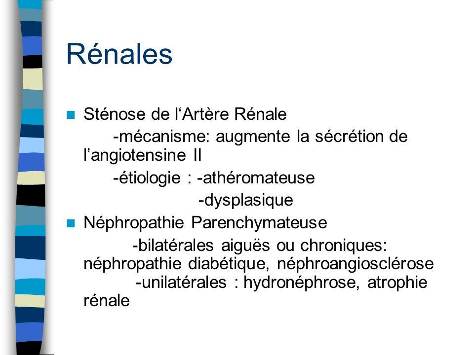 Rénales Sténose de l'Artère Rénale