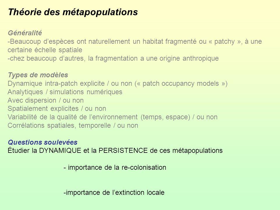 Théorie des métapopulations