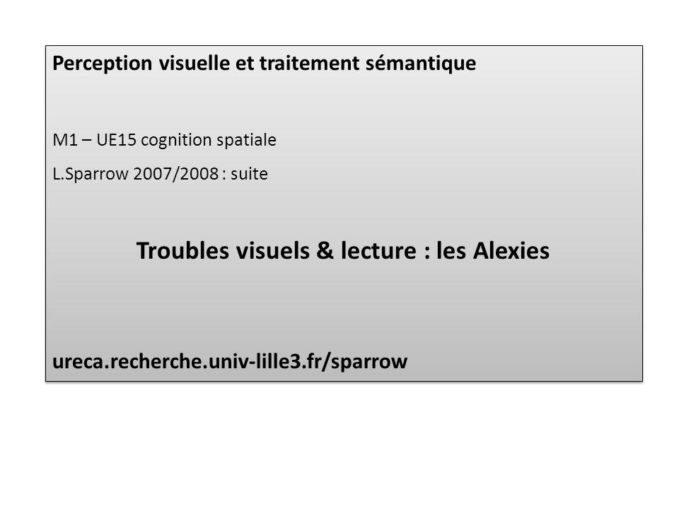 Troubles visuels & lecture : les Alexies