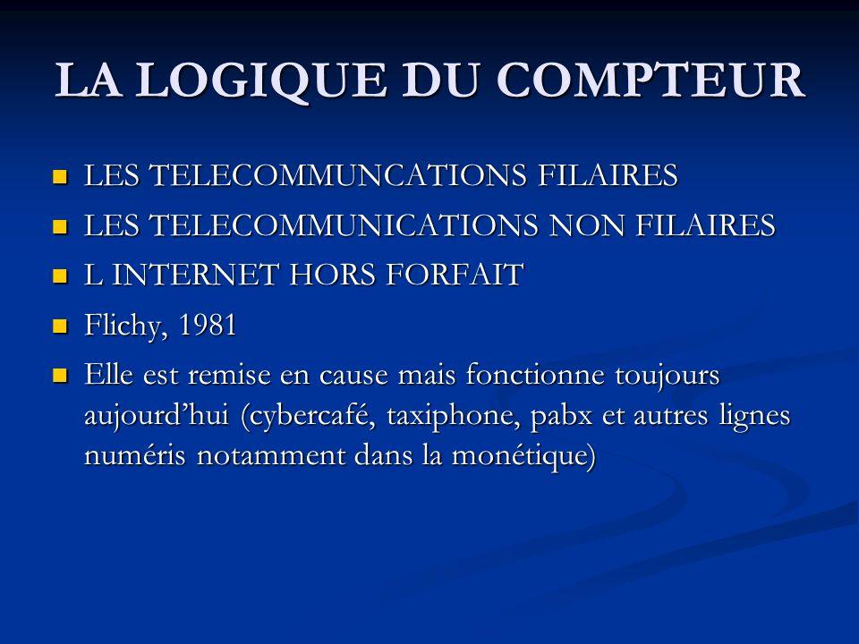 LA LOGIQUE DU COMPTEUR LES TELECOMMUNCATIONS FILAIRES