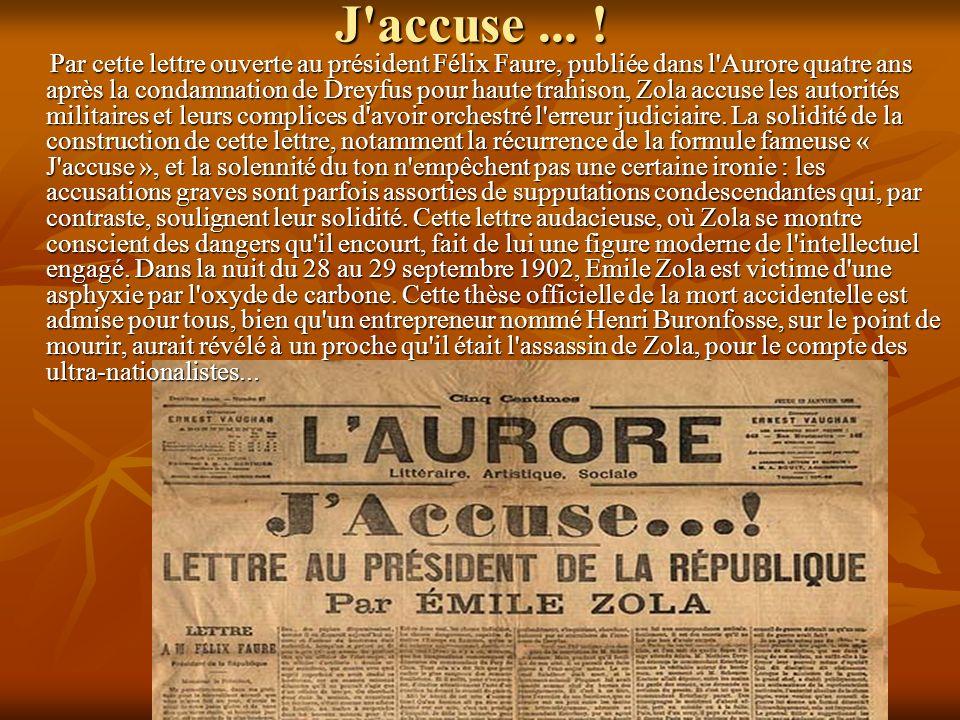 J accuse ... !