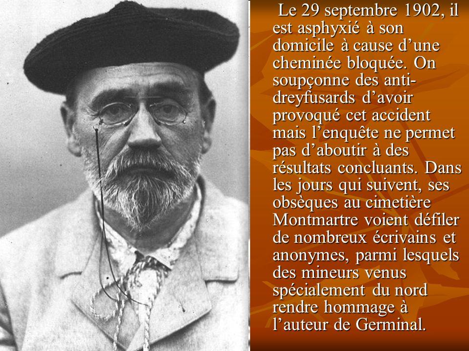 Le 29 septembre 1902, il est asphyxié à son domicile à cause d'une cheminée bloquée.