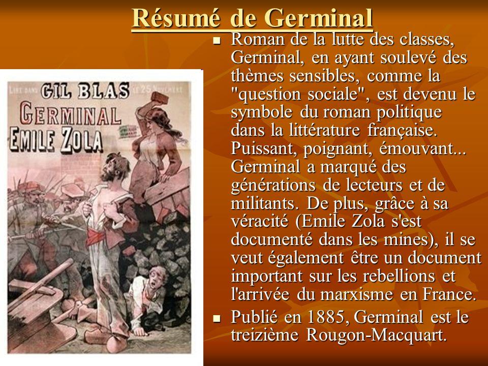Résumé de Germinal