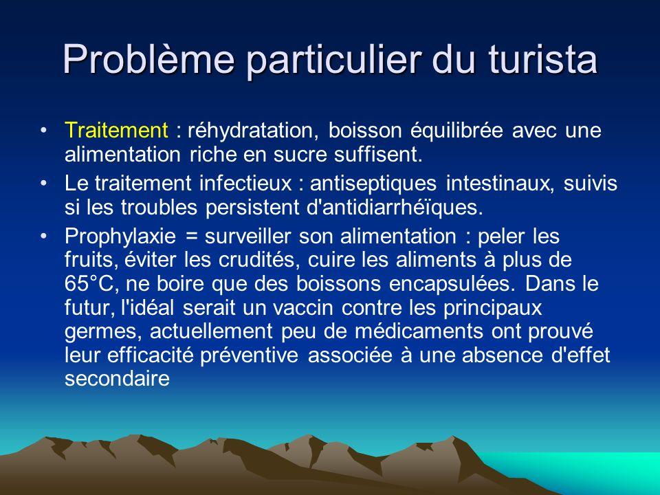 Problème particulier du turista