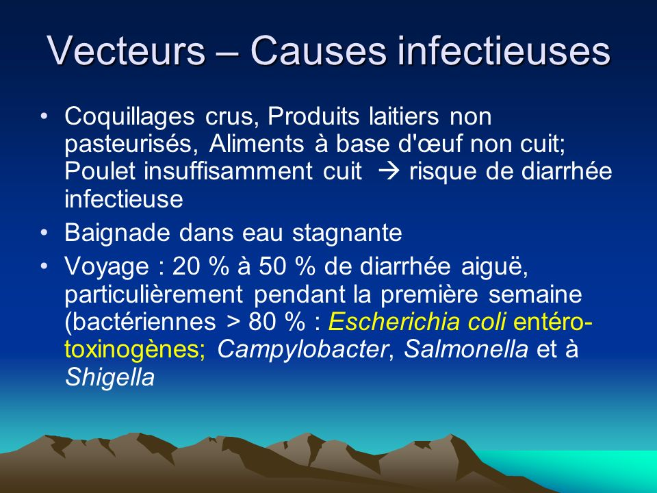 Vecteurs – Causes infectieuses