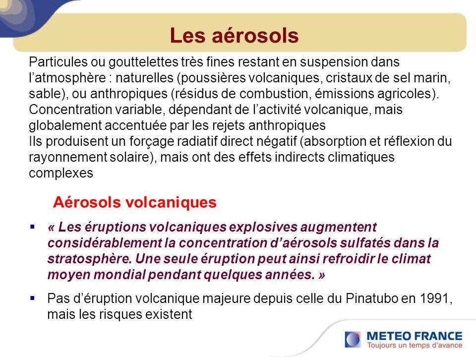 Les aérosols Aérosols volcaniques