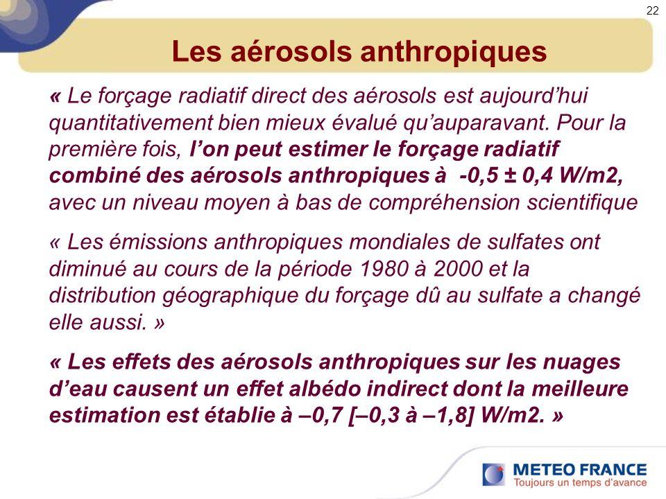 Les aérosols anthropiques