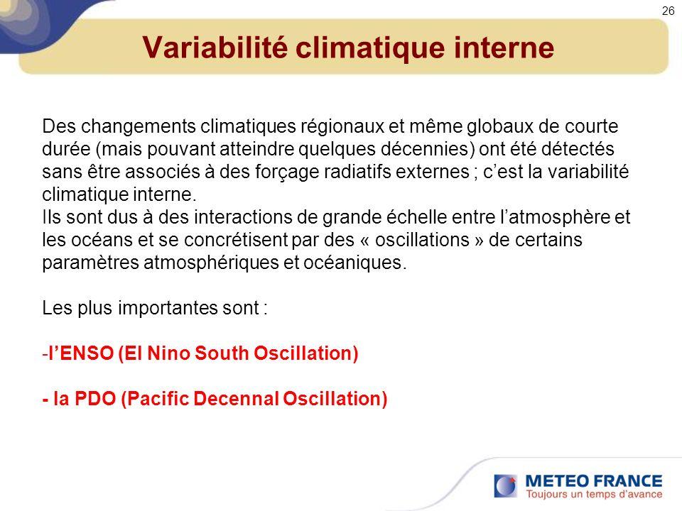 Variabilité climatique interne