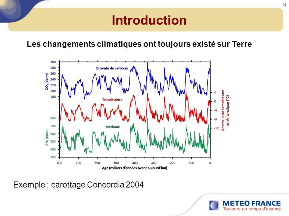 Introduction Les changements climatiques ont toujours existé sur Terre