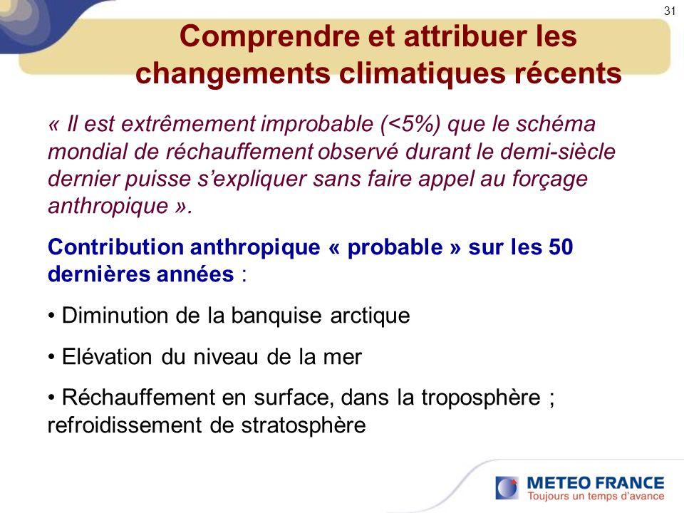 Comprendre et attribuer les changements climatiques récents