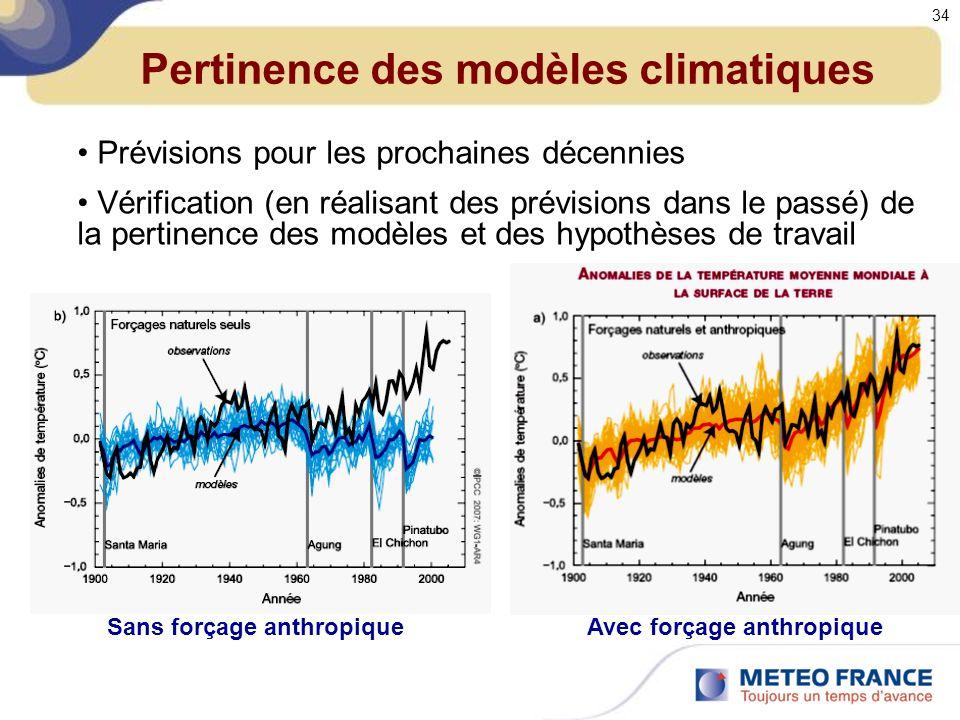Pertinence des modèles climatiques