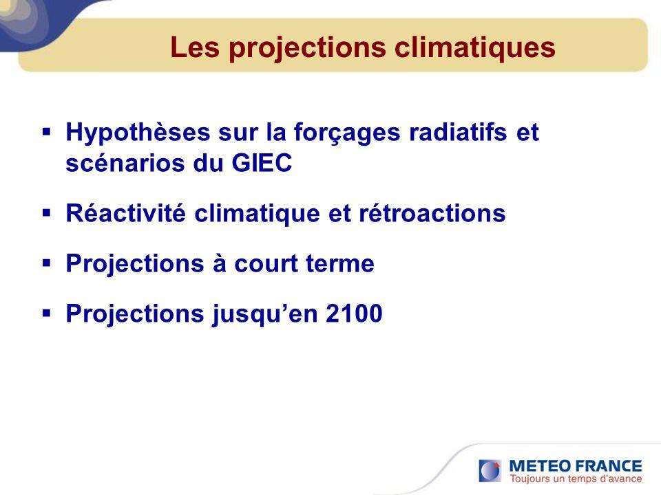 Les projections climatiques