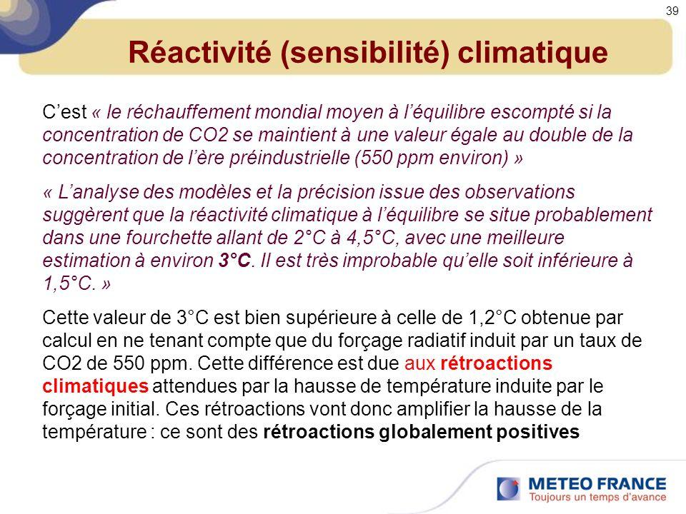 Réactivité (sensibilité) climatique