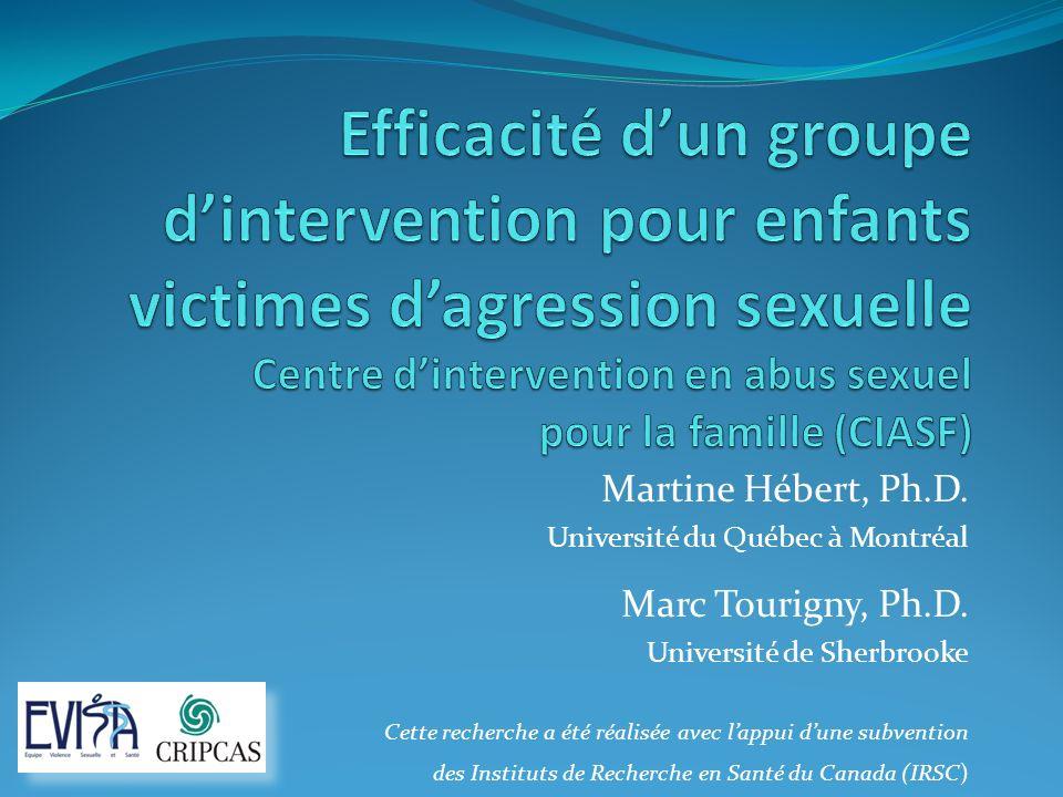 Efficacité d'un groupe d'intervention pour enfants victimes d'agression sexuelle Centre d'intervention en abus sexuel pour la famille (CIASF)