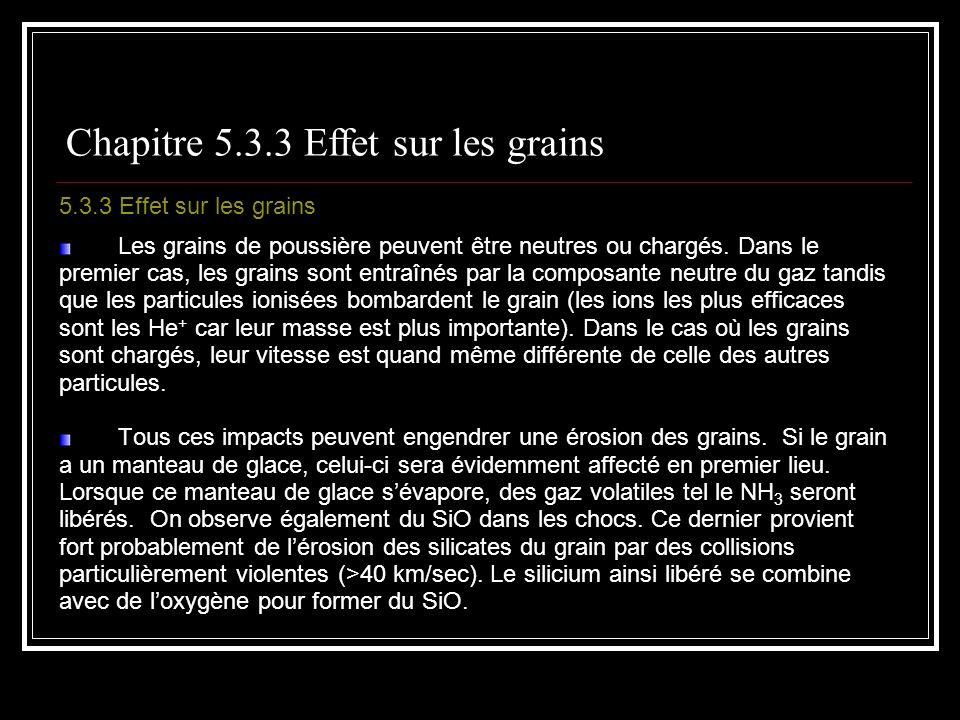 Chapitre 5.3.3 Effet sur les grains