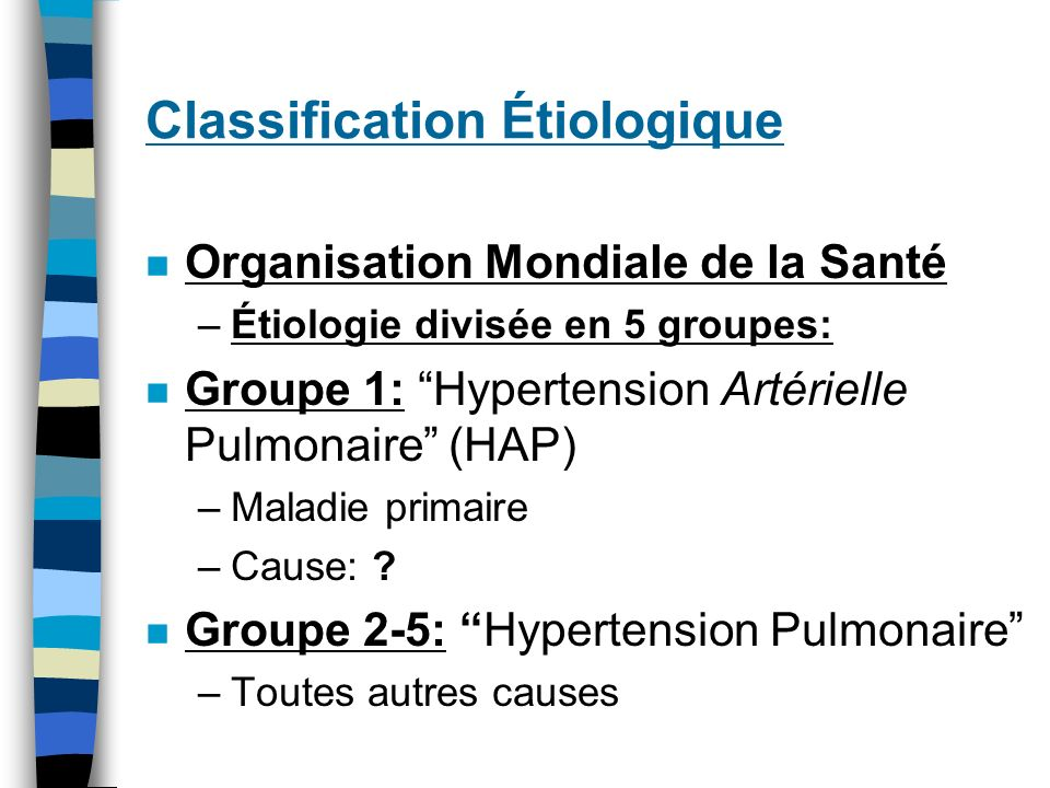 Classification Étiologique