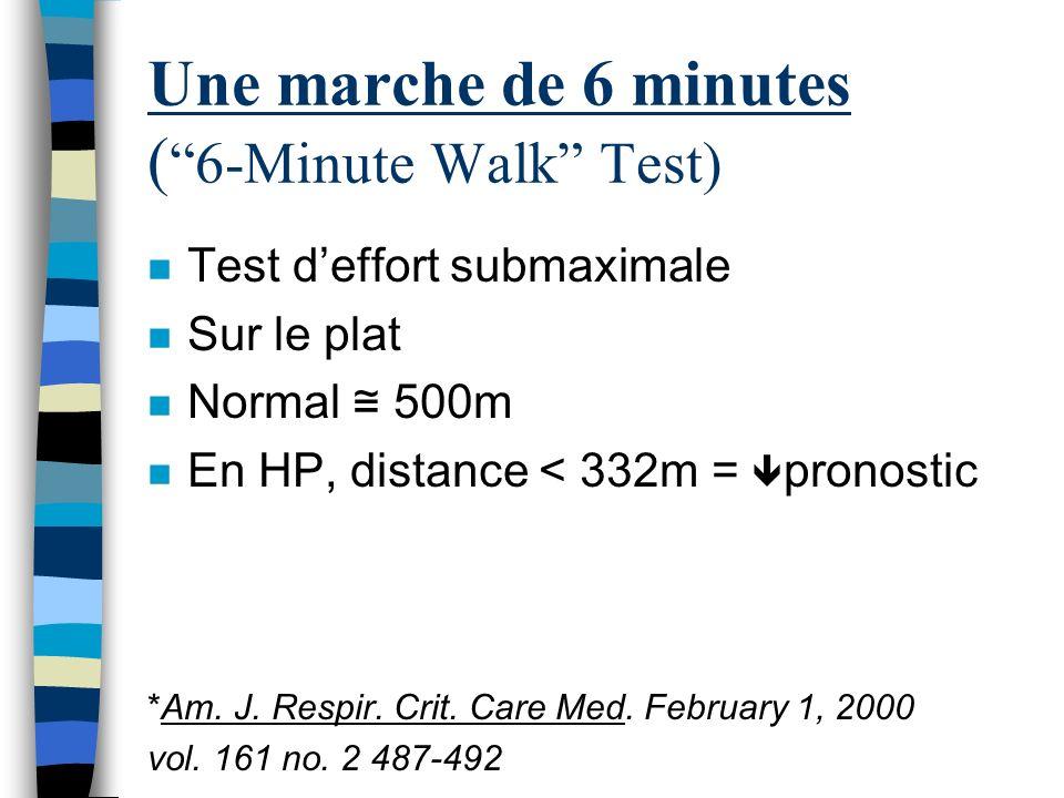 Une marche de 6 minutes ( 6-Minute Walk Test)