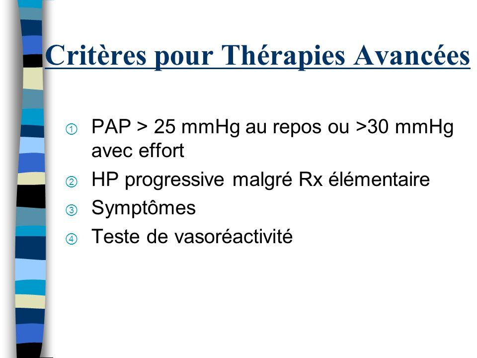Critères pour Thérapies Avancées