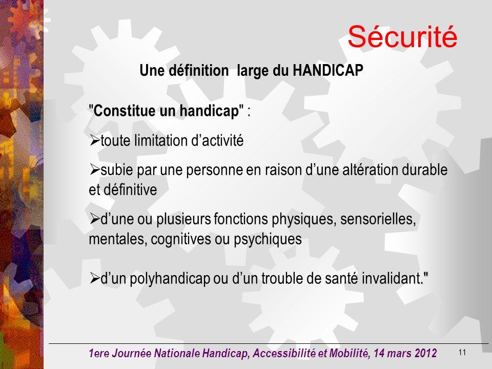 Une définition large du HANDICAP