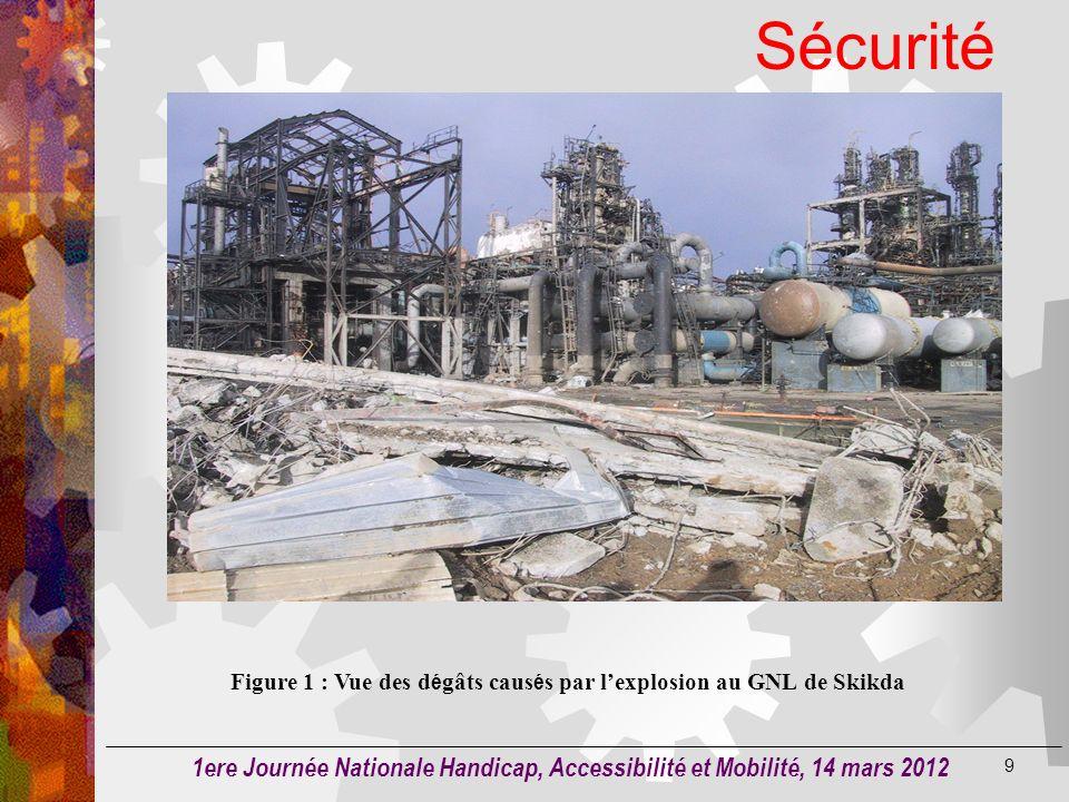 Figure 1 : Vue des dégâts causés par l'explosion au GNL de Skikda