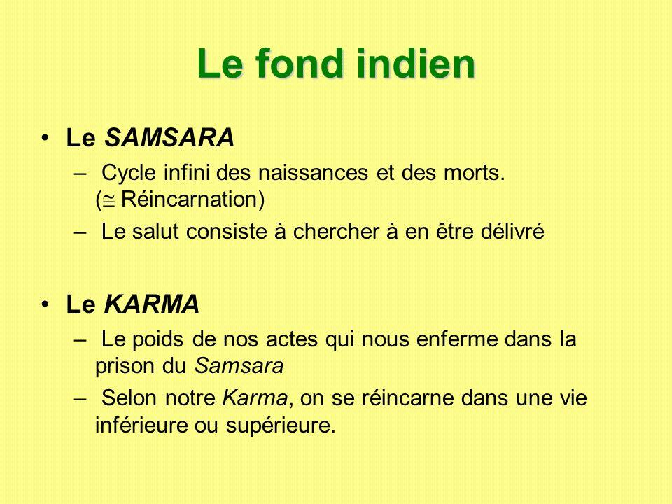 Le fond indien Le SAMSARA Le KARMA