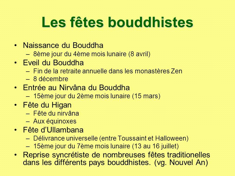 Les fêtes bouddhistes Naissance du Bouddha Eveil du Bouddha