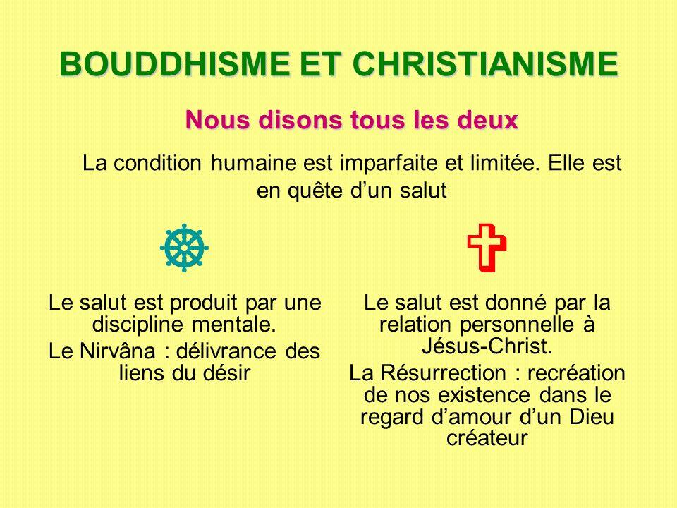 BOUDDHISME ET CHRISTIANISME