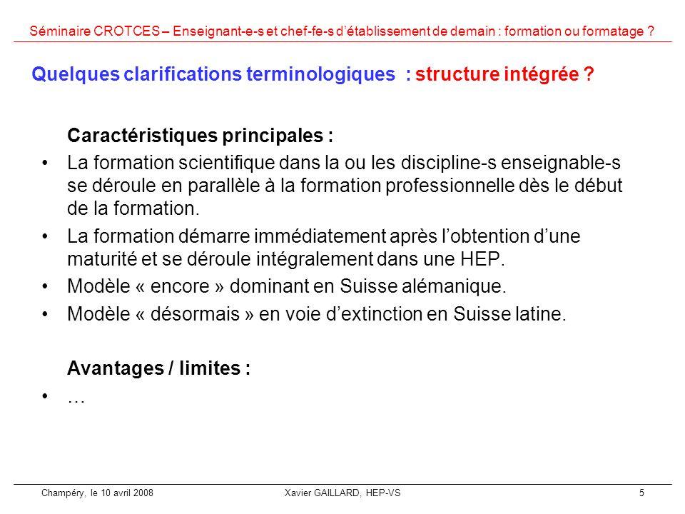 Quelques clarifications terminologiques : structure intégrée