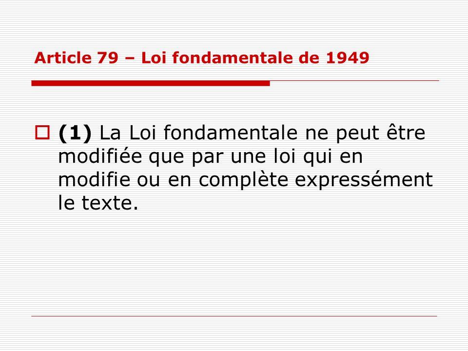 Article 79 – Loi fondamentale de 1949