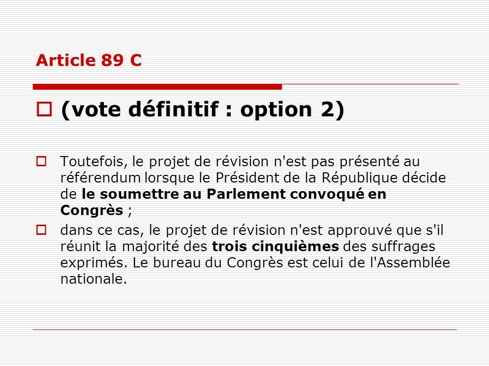 (vote définitif : option 2)