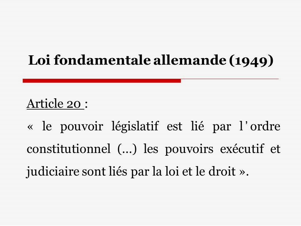 Loi fondamentale allemande (1949)