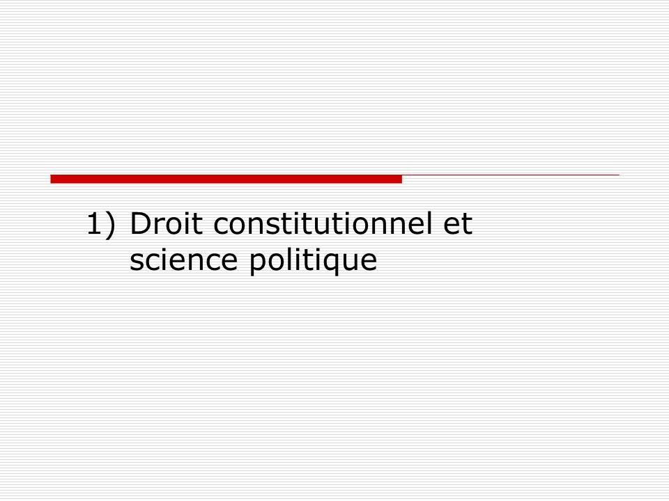 Droit constitutionnel et science politique