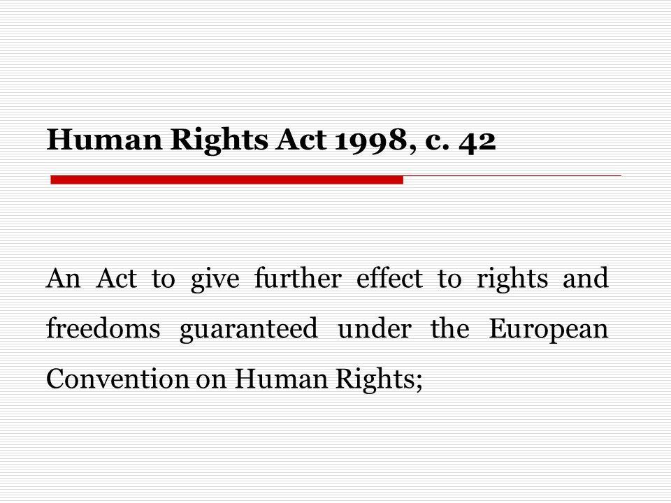 Human Rights Act 1998, c.