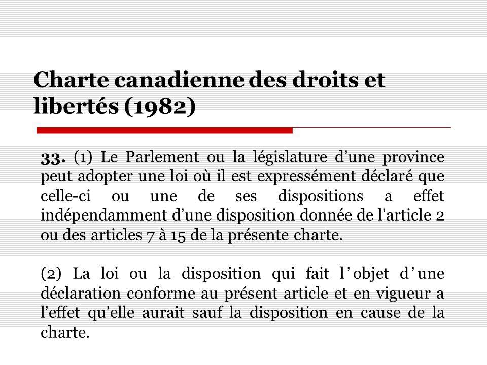 Charte canadienne des droits et libertés (1982)