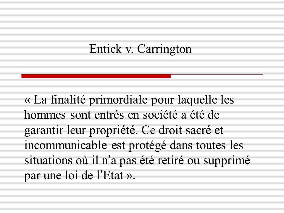 Entick v. Carrington