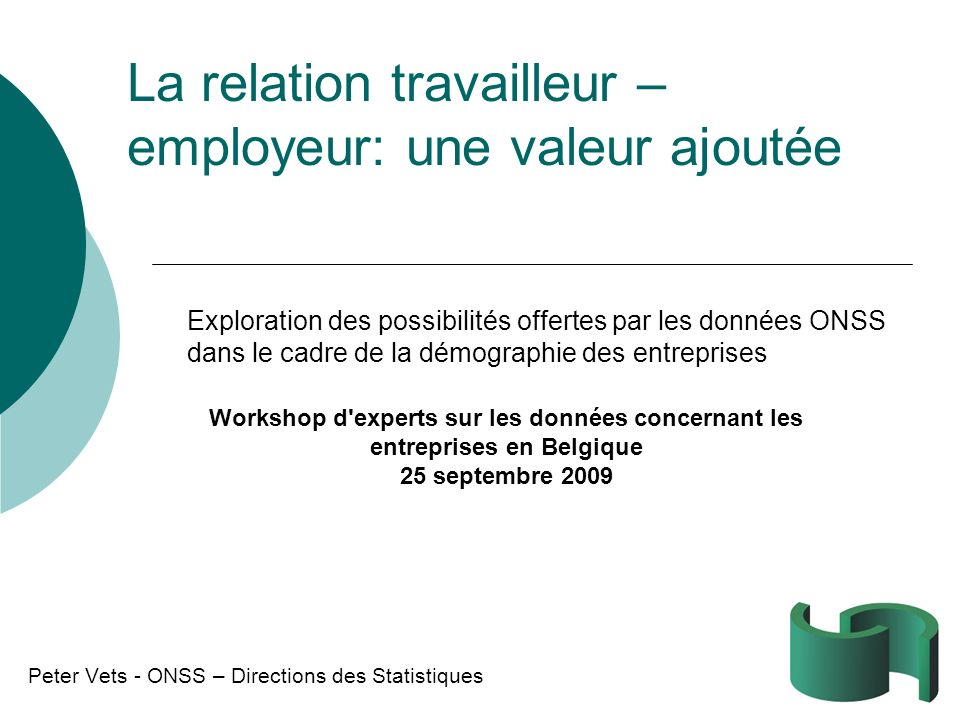 La relation travailleur – employeur: une valeur ajoutée
