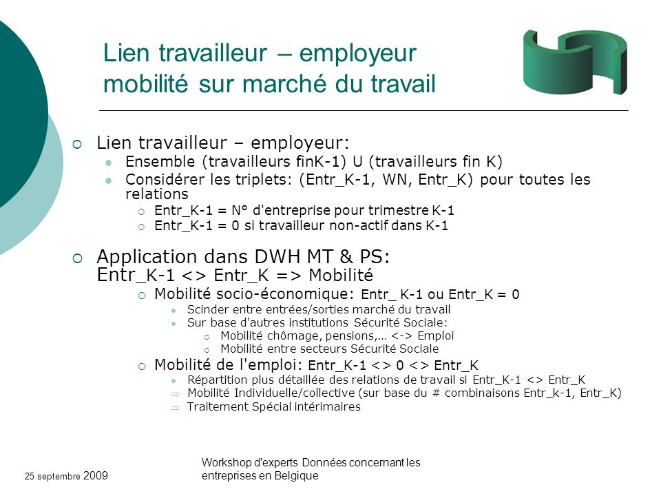 Lien travailleur – employeur mobilité sur marché du travail