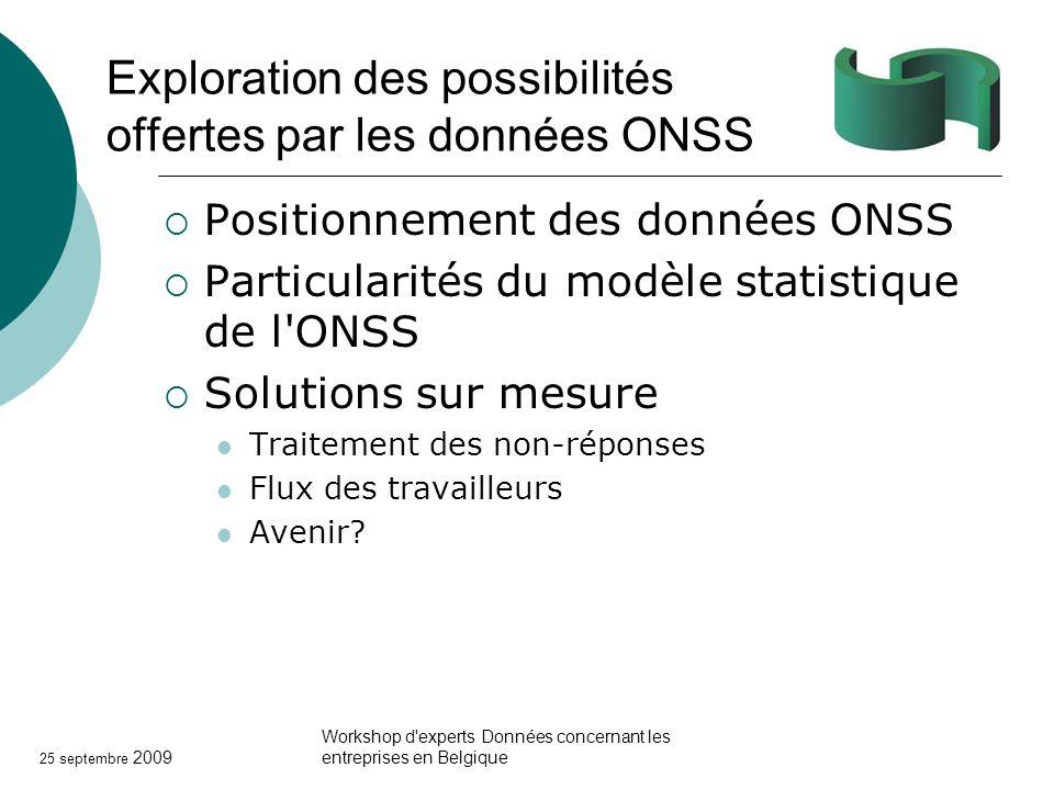 Exploration des possibilités offertes par les données ONSS
