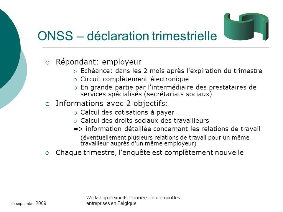 ONSS – déclaration trimestrielle