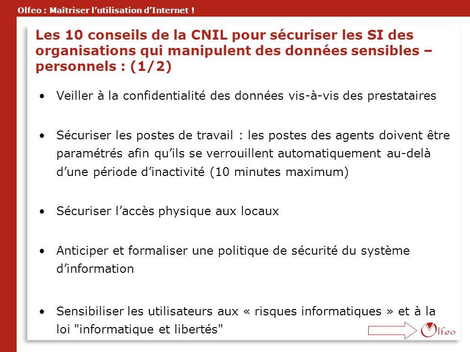 Les 10 conseils de la CNIL pour sécuriser les SI des organisations qui manipulent des données sensibles – personnels : (1/2)