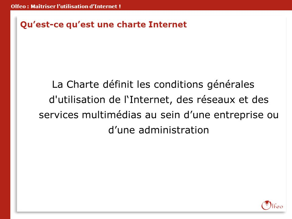 Qu'est-ce qu'est une charte Internet