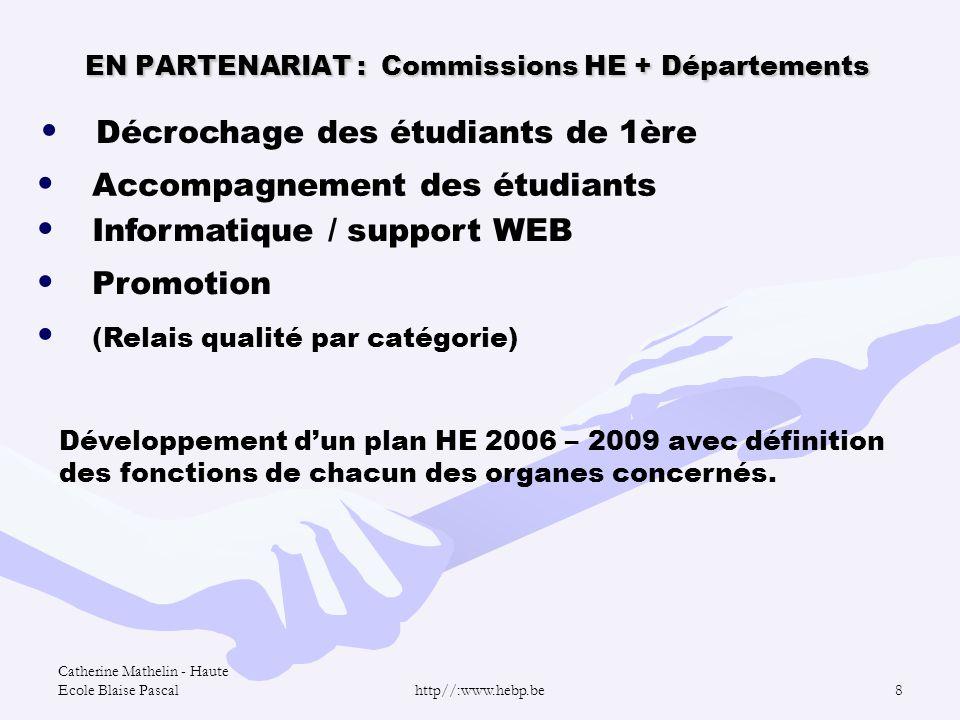 EN PARTENARIAT : Commissions HE + Départements