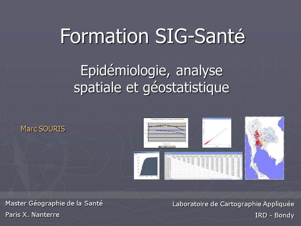Epidémiologie, analyse spatiale et géostatistique