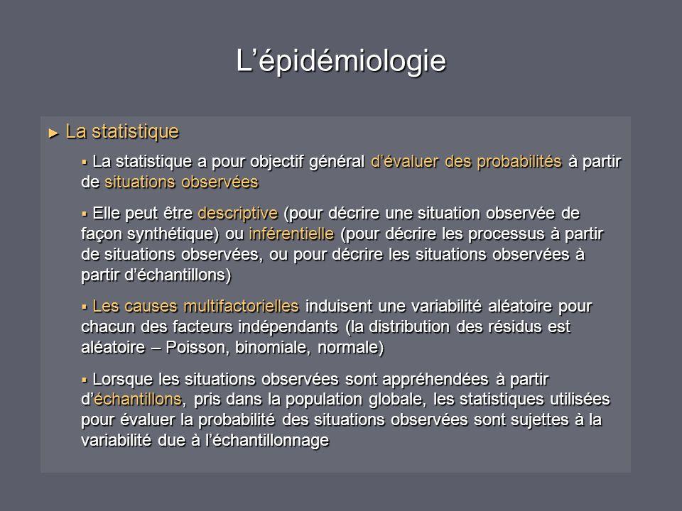 L'épidémiologie La statistique