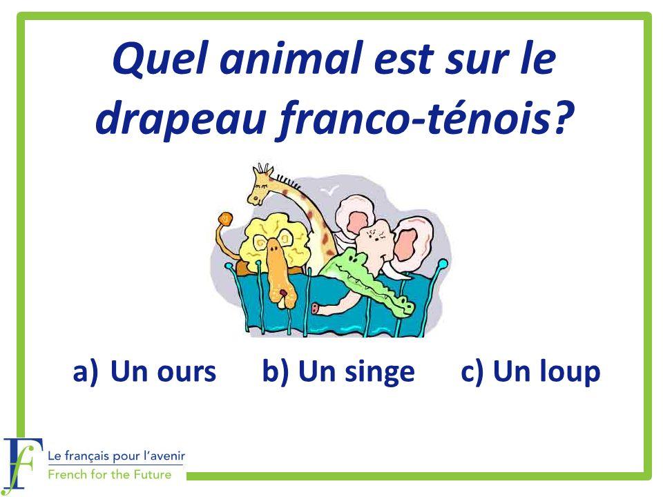 Quel animal est sur le drapeau franco-ténois