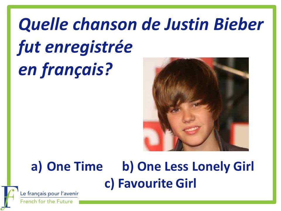 Quelle chanson de Justin Bieber fut enregistrée en français