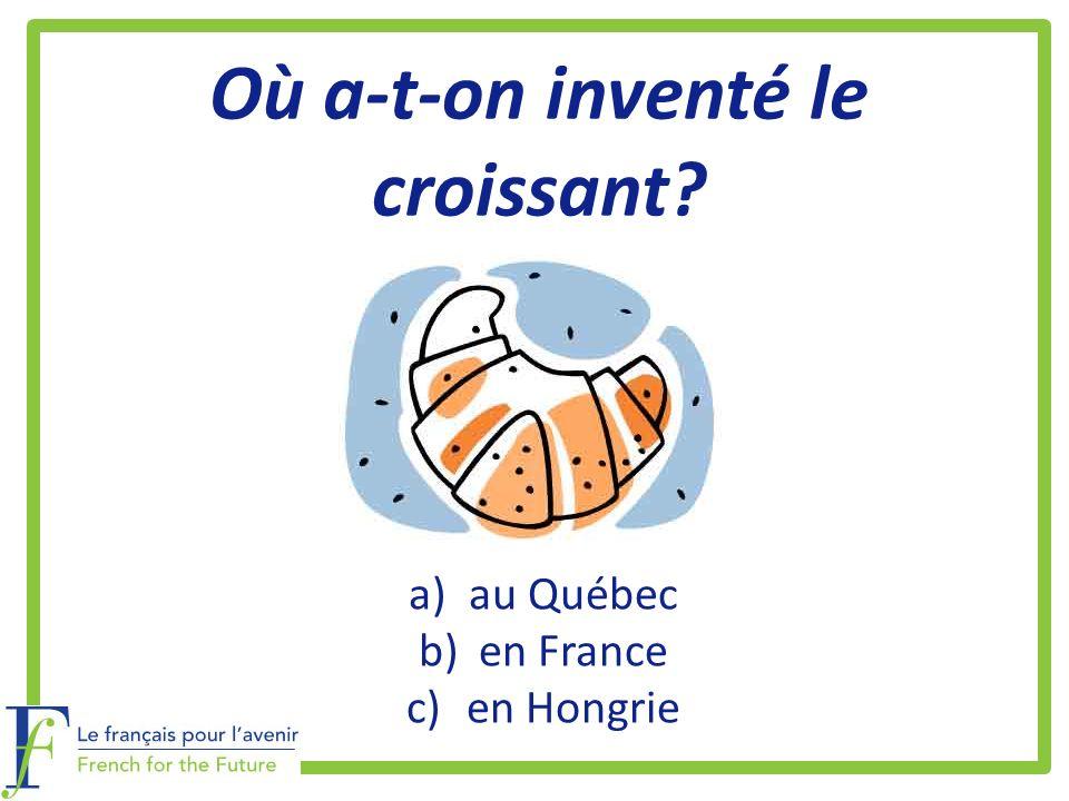 Où a-t-on inventé le croissant