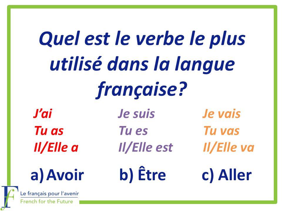 Quel est le verbe le plus utilisé dans la langue française