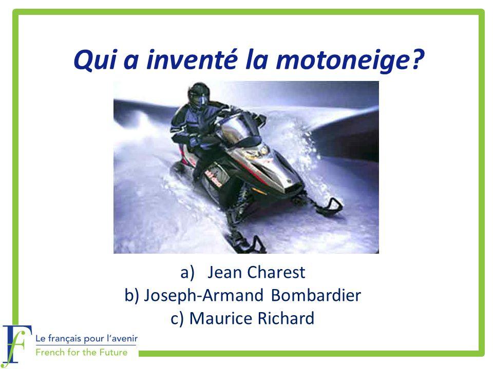 Qui a inventé la motoneige